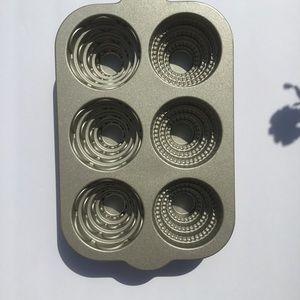 Nordic Ware Cast Aluminum Mini Cake Pan, Mint.